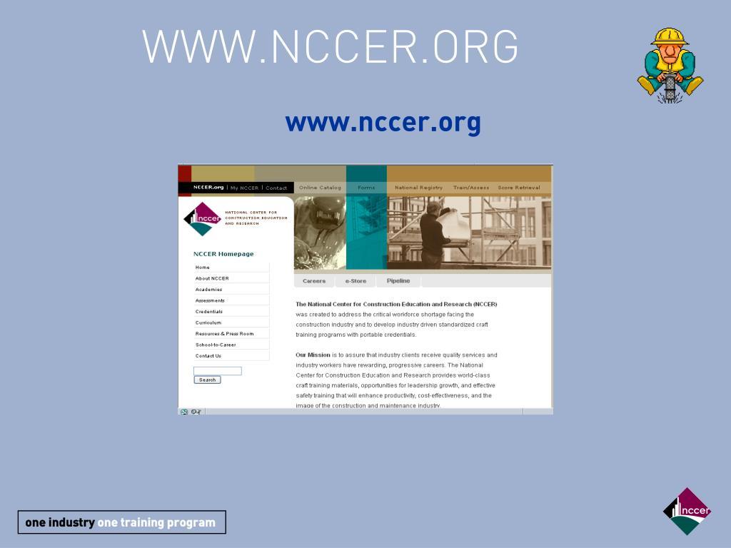 WWW.NCCER.ORG