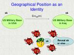 geographical position as an identity