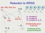 reduction to irrss