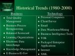 historical trends 1980 2000