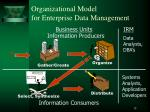 organizational model for enterprise data management