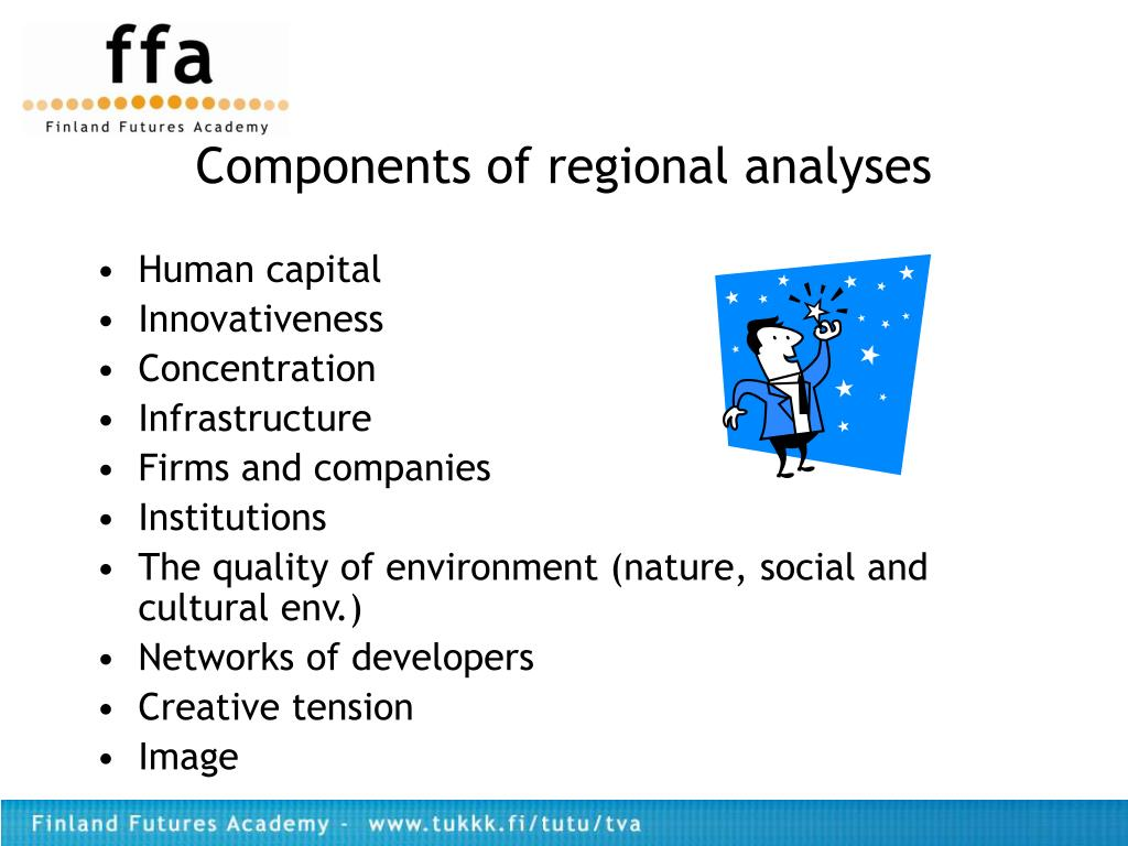 Components of regional analyses