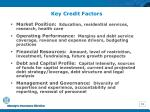key credit factors