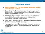 key credit ratios