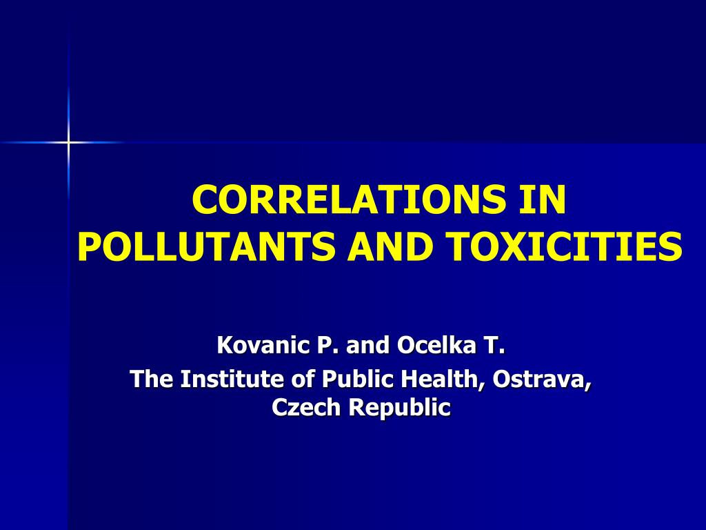 correlations in pollutants and toxicities l.