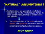 natural assumptions