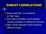 robust correlations