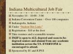 indiana multicultural job fair