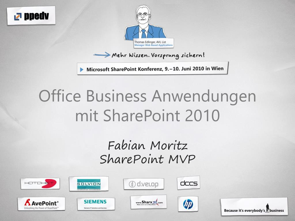 office business anwendungen mit sharepoint 2010 fabian moritz sharepoint mvp l.