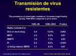 transmisi n de virus resistentes