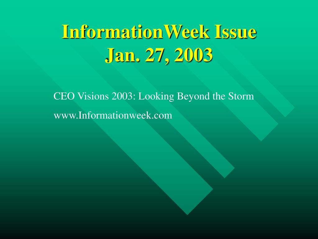 informationweek issue jan 27 2003 l.