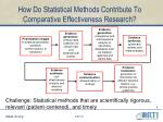 how do statistical methods contribute to comparative effectiveness research