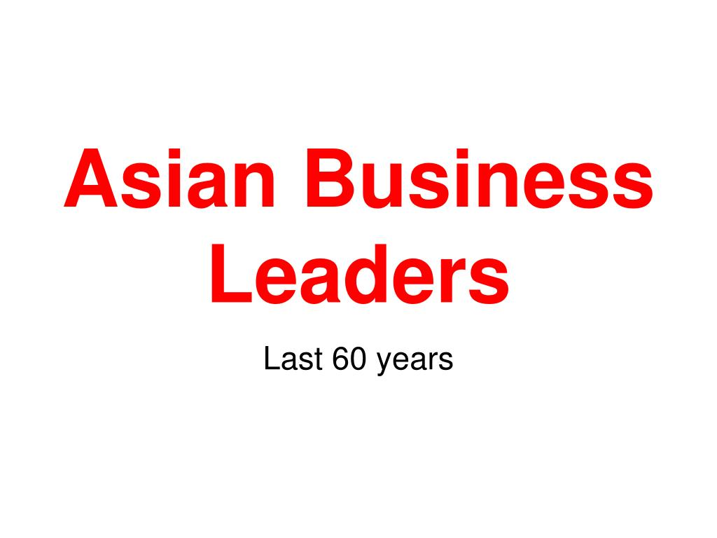 asian business leaders l.