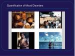 quantification of mood disorders