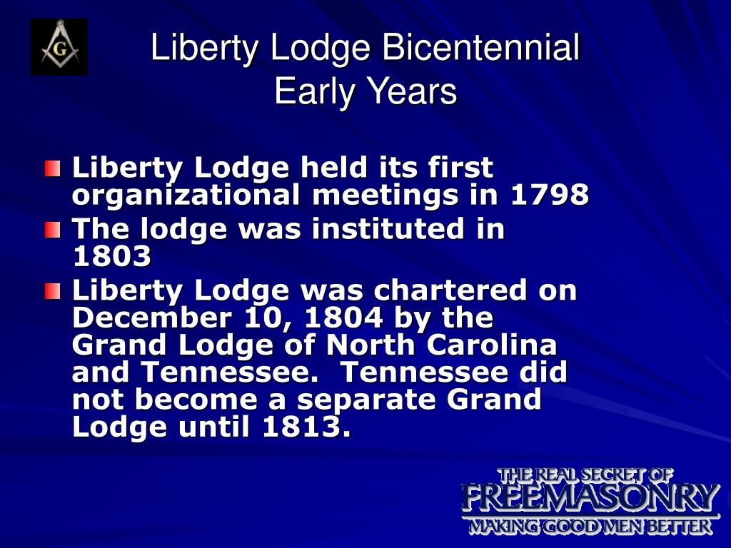 liberty lodge bicentennial early years l.