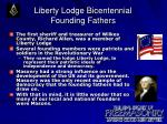 liberty lodge bicentennial founding fathers