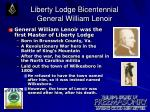 liberty lodge bicentennial general william lenoir