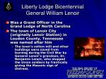 liberty lodge bicentennial general william lenoir6