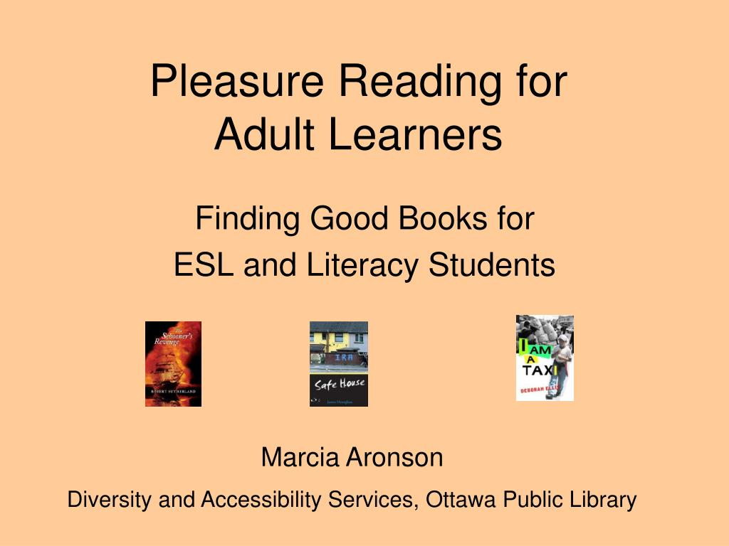 pleasure reading for adult learners l.