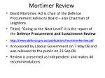 mortimer review