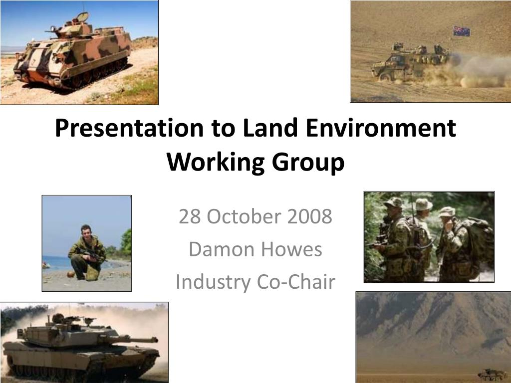 presentation to land environment working group l.