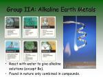 group iia alkaline earth metals