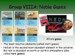 group viiia noble gases