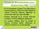 protocolo recomendado para diagnosticar me