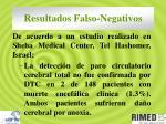 resultados falso negativos