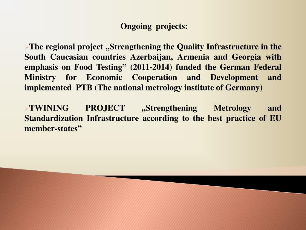 Ongoing  projects: