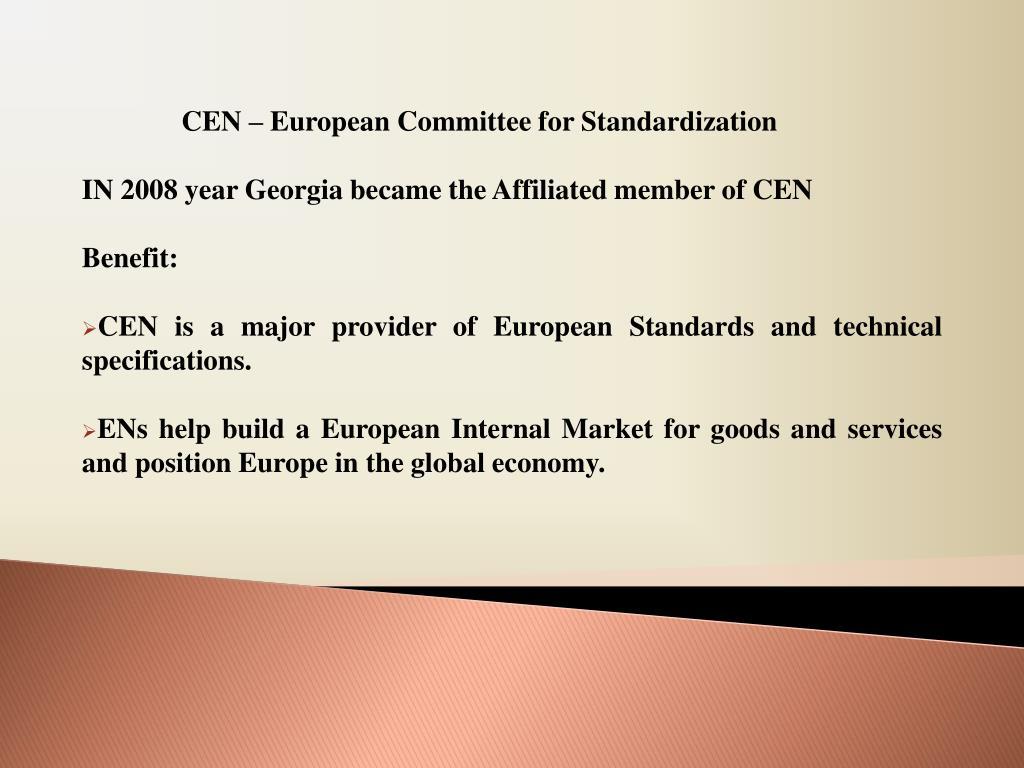 CEN – European Committee for Standardization