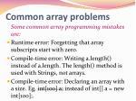 common array problems