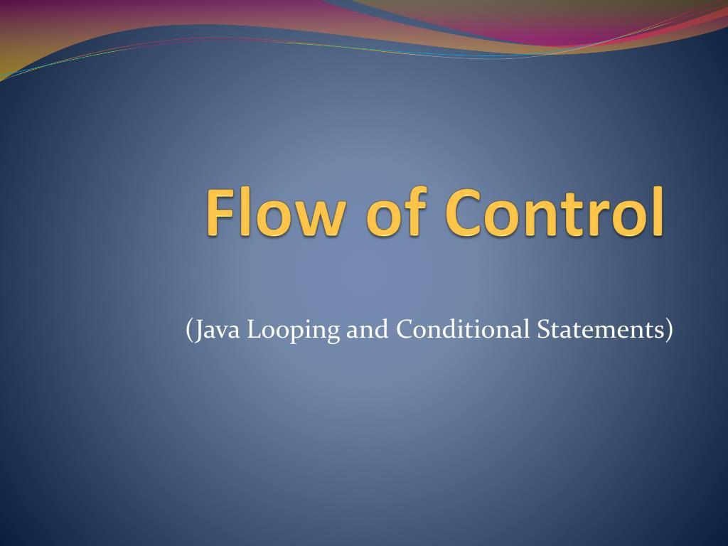flow of control l.