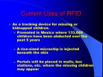 current uses of rfid