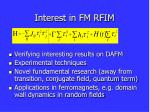interest in fm rfim27