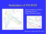 realization of fm rfim