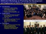 2009 joint workshop on promoting the development and deployment of igcc co production ccs