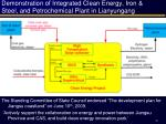 demonstration of integrated clean energy iron steel and petrochemical plant in lianyungang