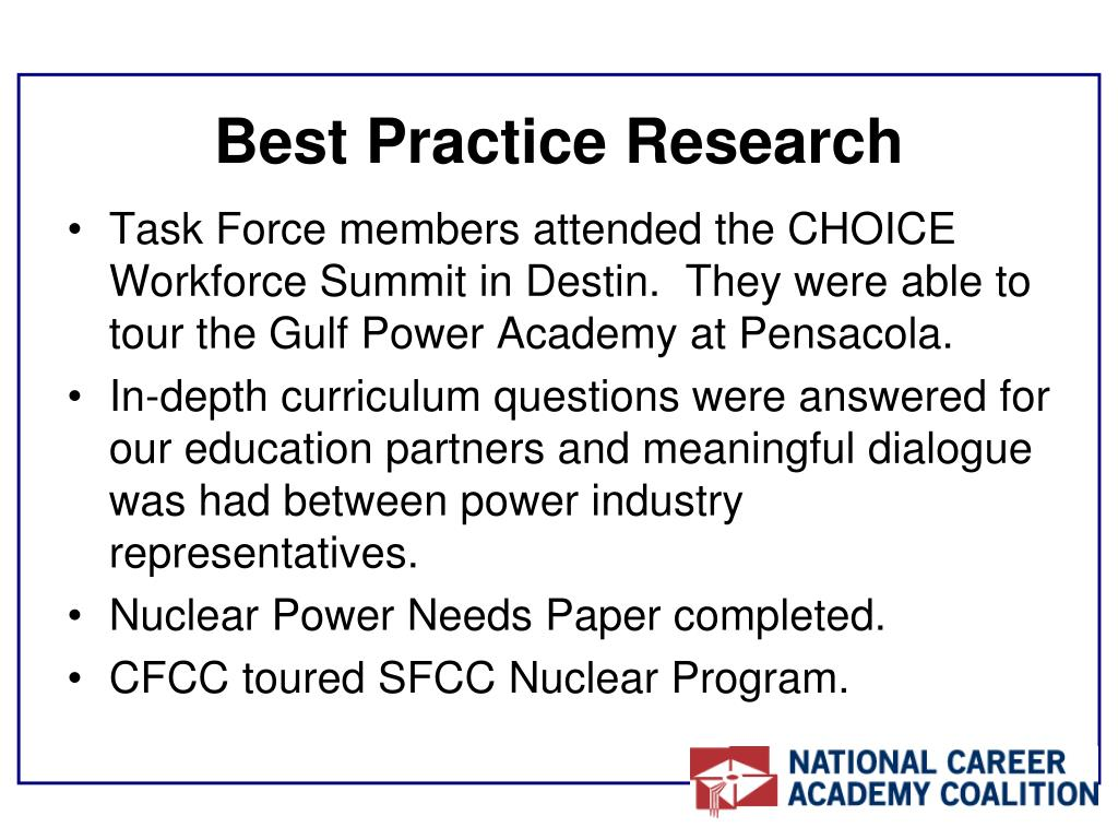 Best Practice Research