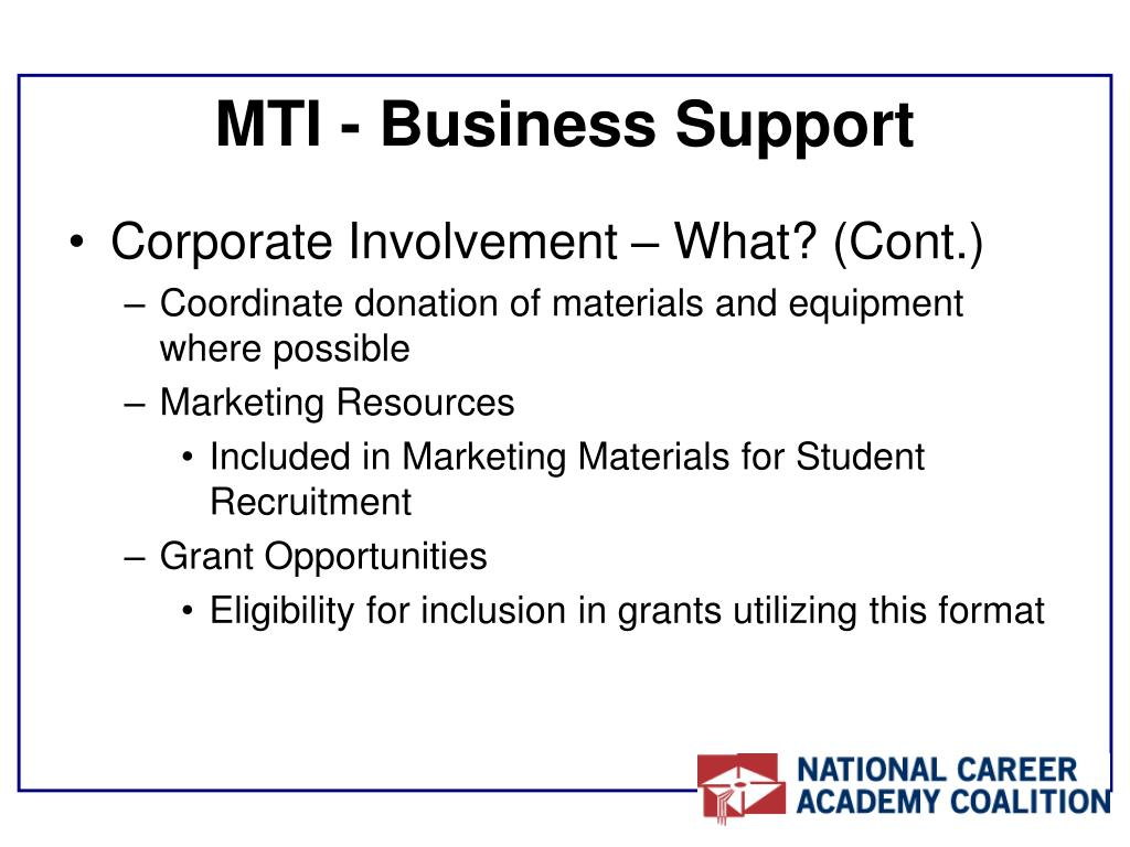 MTI - Business Support