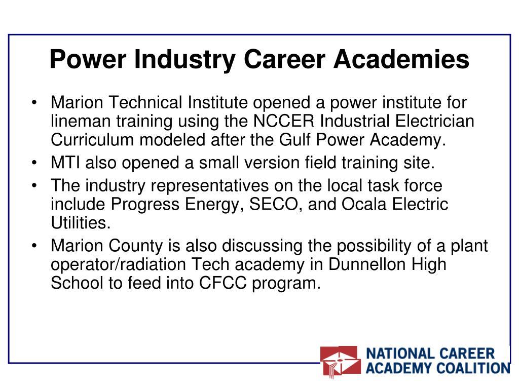 Power Industry Career Academies