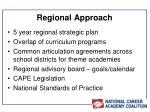 regional approach