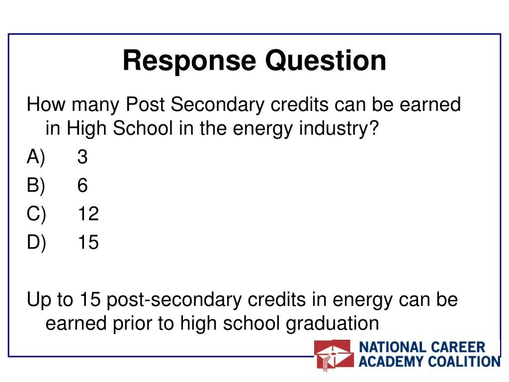 Response Question