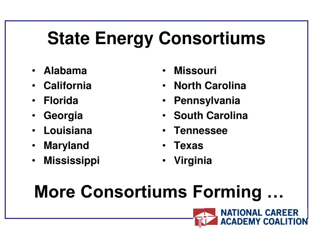 State Energy Consortiums