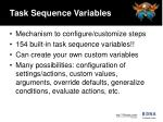 task sequence variables19