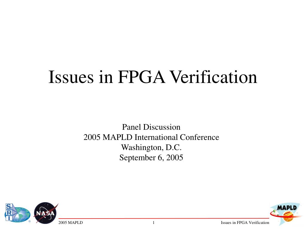 issues in fpga verification l.