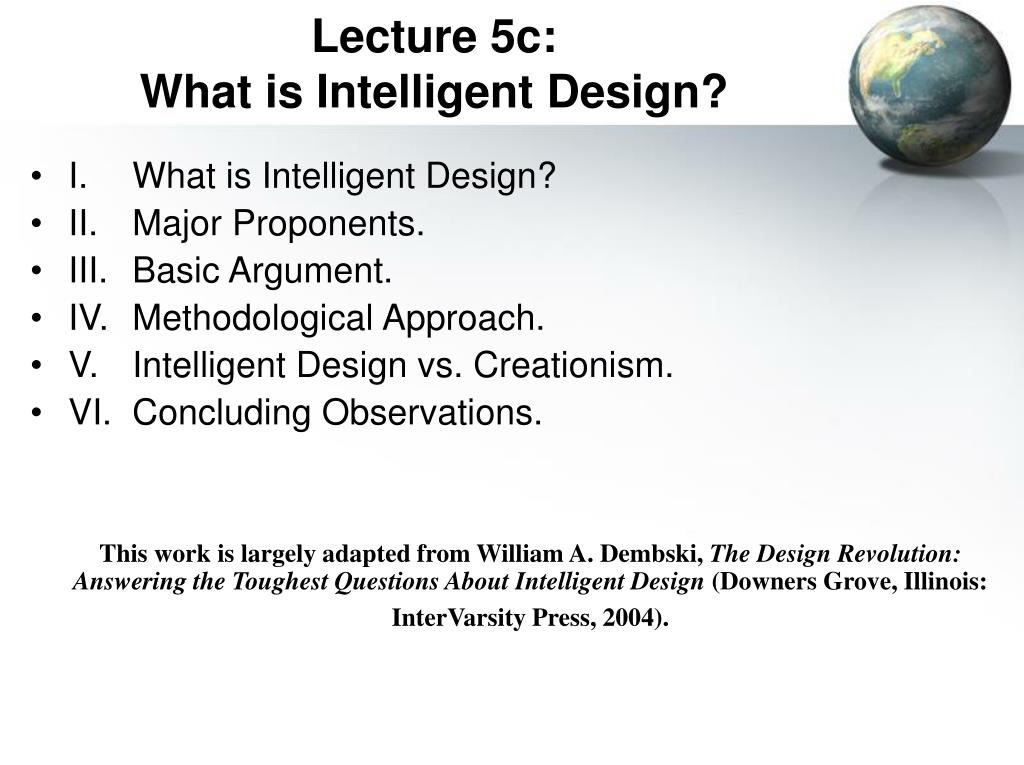 lecture 5c what is intelligent design l.
