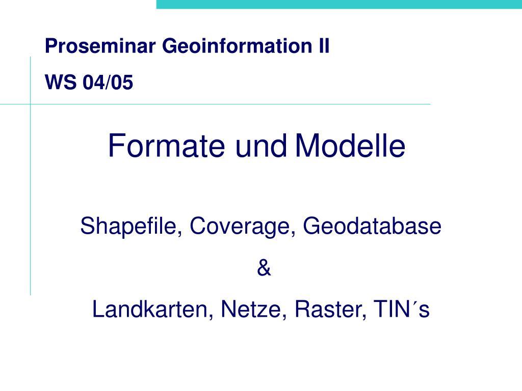 formate und modelle l.