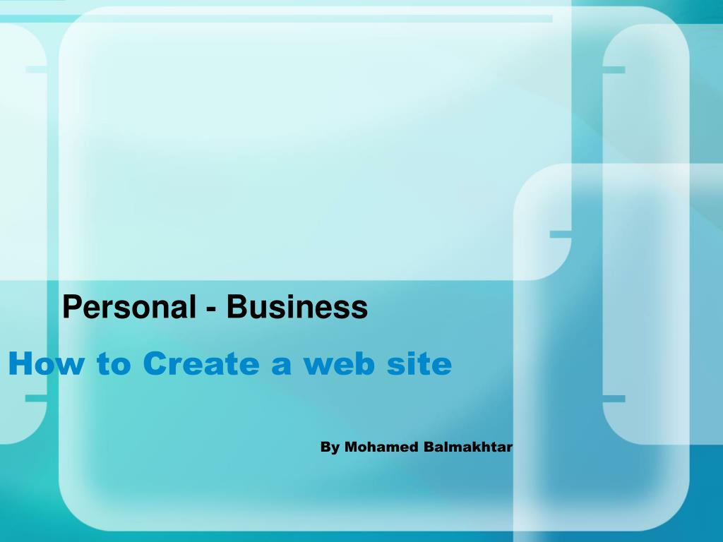 how to create a web site by mohamed balmakhtar l.