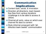 communication implications